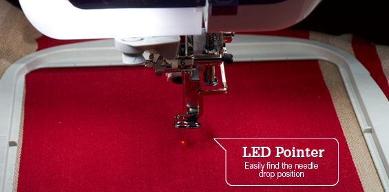 LED Pointer: Easily find the needle drop position
