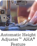Automatic Height Adjuster™ AHA® Feature