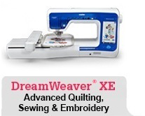 DreamWeaver XE Advanced Quilting, Sewing And Embroidery Machine