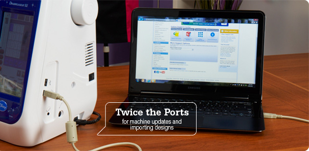 Twice the Ports for machine updates and importing designs.