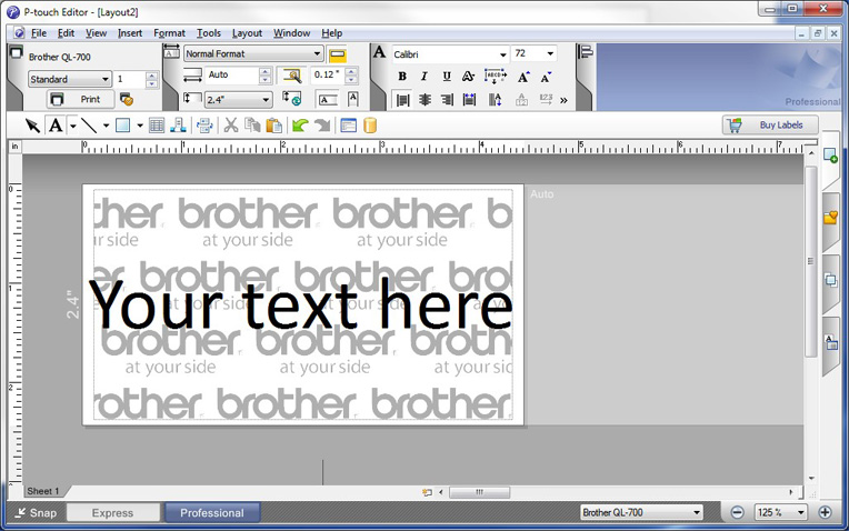 Brother P-touch Editor 5.0 Mac