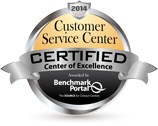 2014 Customer Service Center Certified Center of Excellence