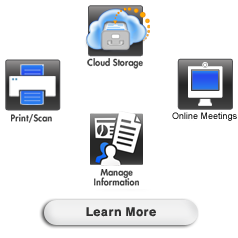 Brother™ Online, web conferencing, document & scanning solutions, business services, Learn More