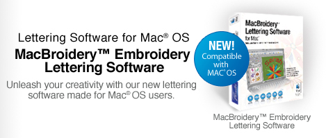 MacBroidery Embroidery Software for MAC®