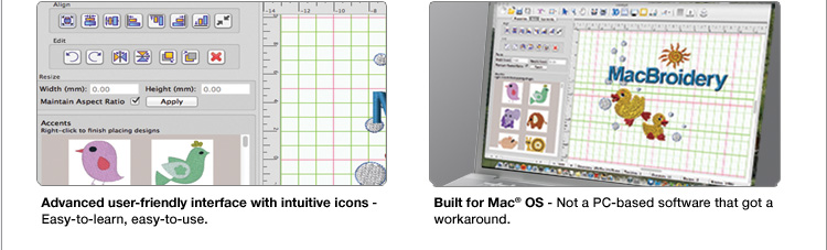 MacBroidery™  Advanced User Friendly Interface