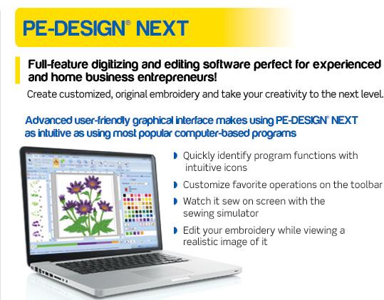 Brother Pe Design Next Version 9 Full Featured Digitizing Machine