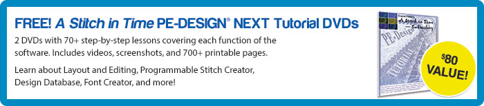 PE-Design® A Stitch in Time PE-DESIGN® NEXT Tutorial DVDs