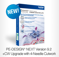 PE-Design® Next Version 9.2 +CW Upgrade with 4-Needle Cutwork