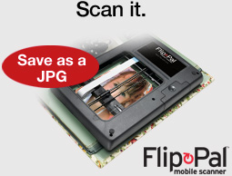 Save as a JPG. Flip-Pal mobile scanner.