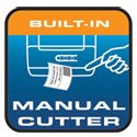Built-in Manual Cutter