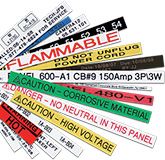 Produce durable laminated labels in sizes up to 36mm wide and in a variety of colors