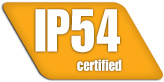 IP54 certification to withstand dust and moisture