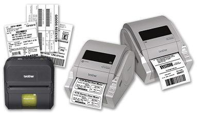 RuggedJet™ RJ-4030 and TD-4000 & TD-4100N desktop paper barcode label printers