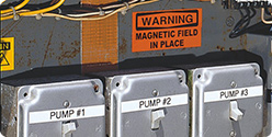 Durable labeling for inspection tagging, cut-off valves, switches, panels, wires and connections.