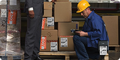 Mobile barcode label printing solutions for wireless warehouse operations.