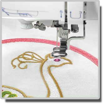 THE Dream Machine features the Droplight LED embroidery positioning marker