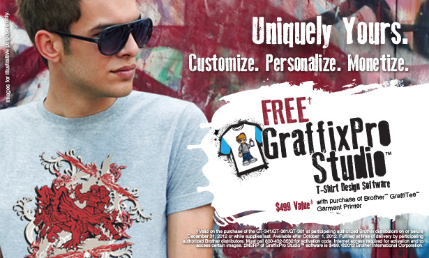 Promotions for Brother™ GraffiTee™ Series Digital Garment Printers Coming Soon