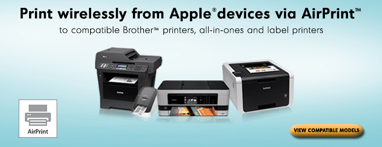 Print wirelessly from Apple devices via AirPrint