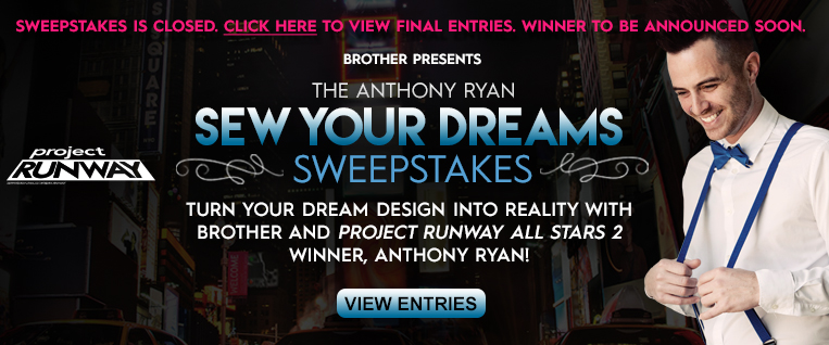 'Sew Your Dreams' Sweepstakes has closed - Browse Entries!