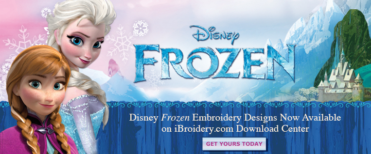 Disney Frozen Designs Now on iBroidery.com Embroidery Design Download Center!