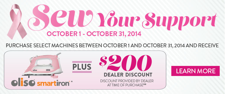 Sew Your Support Promo - Discount & Free Gift with Select Purchases!