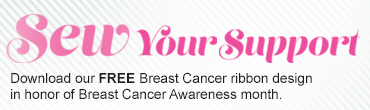 Sew Your Support - Download Your Free Breast Cancer Awareness Ribbon Design