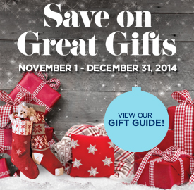 Save on Great Gifts with our Holiday Gift Guide!