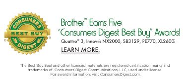 Brother Earns Five Consumers Digest Best Buy Awards