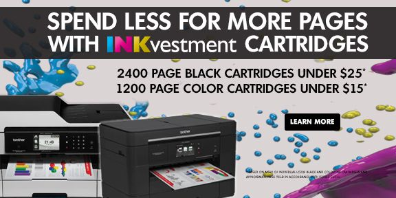 Spend Less For More Pages with INKvestment Cartridges