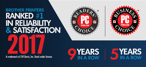 2017 PC Mag Reader's Choice Award and Business Choice Award