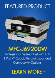 "MFC-J6920DW Professional Series Inkjet with Full 11""x17"" Capability and Expanded Connectivity Options"