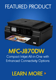 MFC-J870DW Compact Inkjet All-in-One with Enhanced Connectivity Options