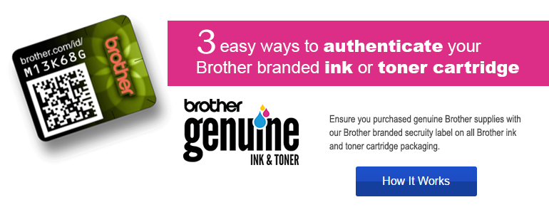 Ink & Toner Security Label Authentication
