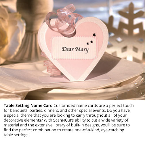 Table Setting Name Card
