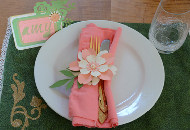 Bridal Shower Placecard & Napkin Ring