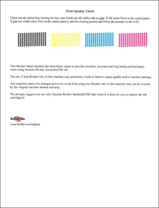 White Horizontal Lines On Printed Pages