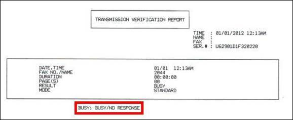 Transmission Verification Report Continues To Print After It Has Been Turned Off