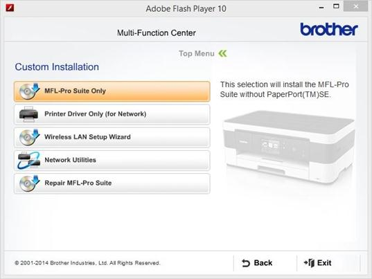 Perform a custom install - Wireless - Windows