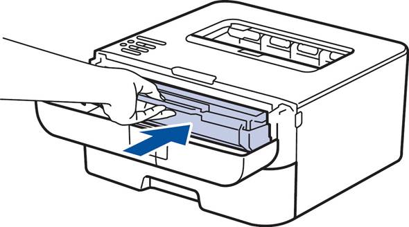 Toner LED stays on or continues to flash after the toner cartridge