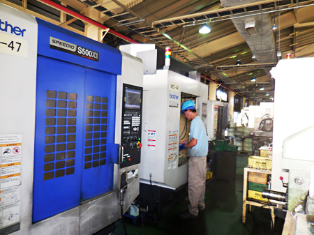 Array of Brother's compact machining centers