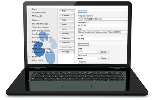 Online Meeting Passwords & Host Controls