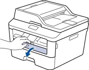 How to load paper in tray or manual feed slot