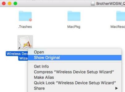 Wireless setup - Macintosh