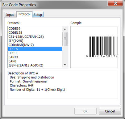Create a bar code label - P-touch Editor 5 x or 4 x