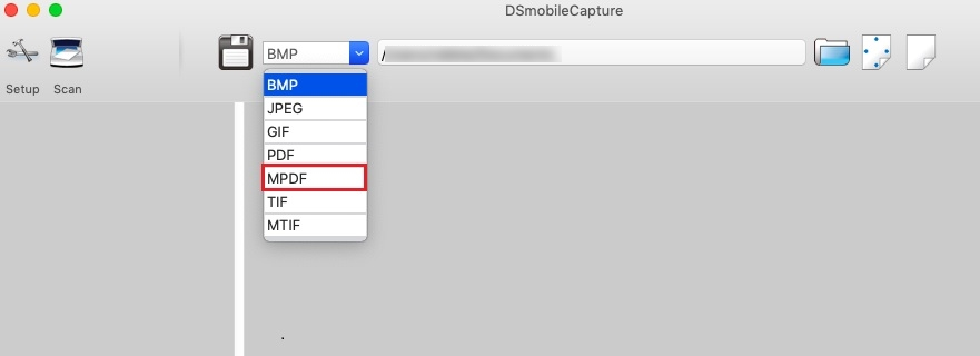Scan a multi-page document into a single PDF file with