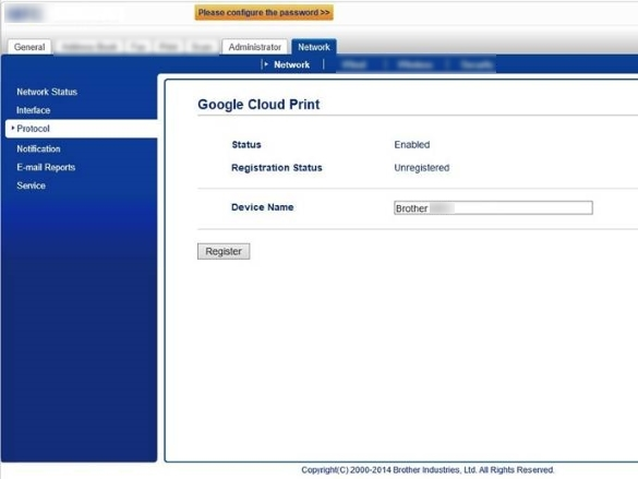 Register and print using Google Cloud Print