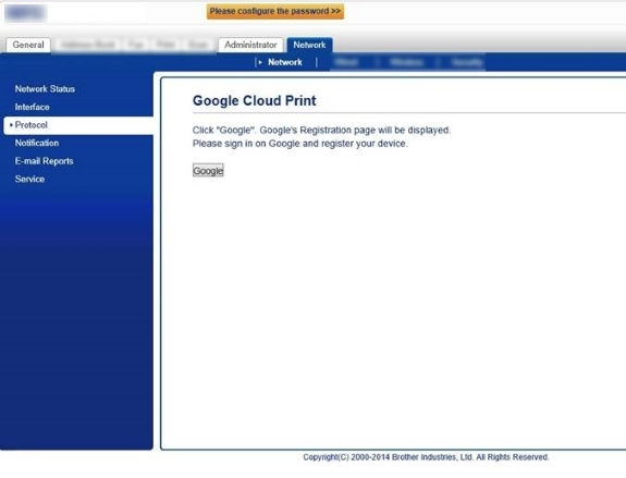 Register and print using Google Cloud Print