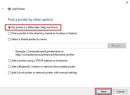Unable to print - Wireless - Windows 10