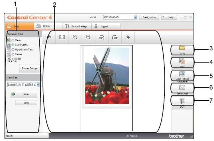 Scan a multi-page document into a single file PDF