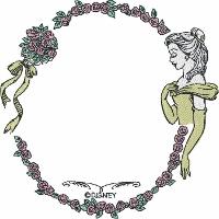 Belle with Rose Frame